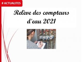 Relève des compteurs d'eau 2021 à partir du 30 Août prochain