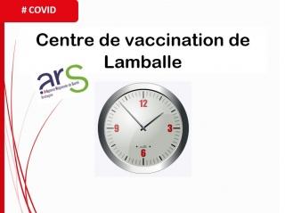 Nouveaux horaires des centres de vaccination à compter du 11 octobre